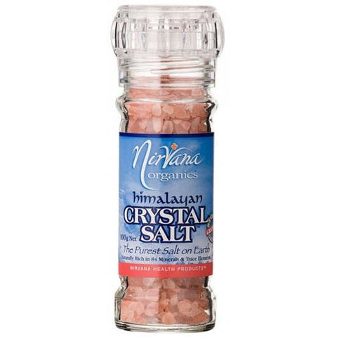 Himalayan Crystal Salt Granules 100g Grinder - Nirvana Health Products