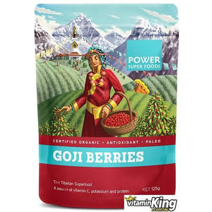 Goji Berries (Organic) 125g by Power Super Foods