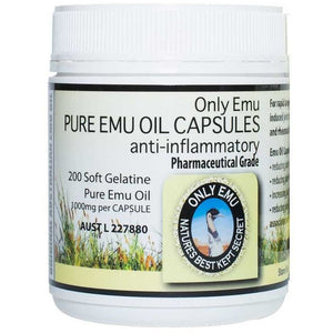 Pure Emu Oil 1000mg 200 Capsules by Only Emu