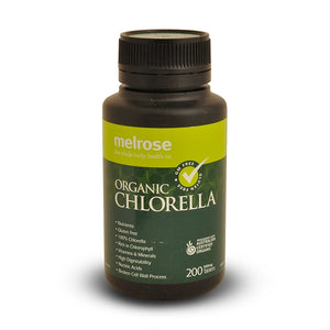 Clean Green Chlorella (Organic) 500mg 200 Tablets by Melrose
