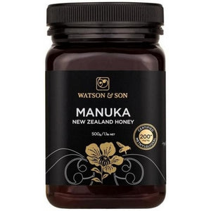 200+ MGO Manuka Honey Black Label 500g by Watson & Son