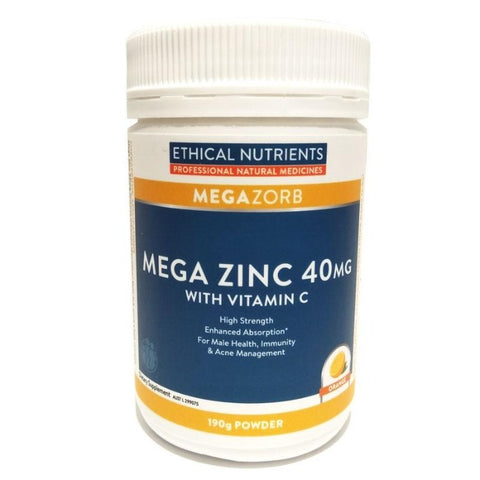 Image of Mega Zinc 40mg Powder by Ethical Nutrients