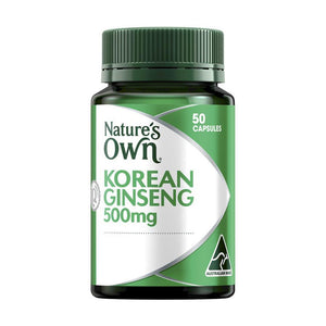 Ginseng Korean 500mg Capsules by Natures Own