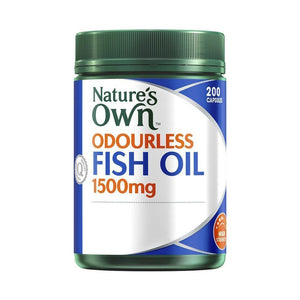 Fish Oil (Odourless) 1500mg 200 Capsules by Natures Own