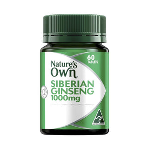 Ginseng Siberian 1000mg Tablets by Natures Own