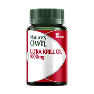 Krill Oil 1000mg (Ultra Krill) 30 Capsules by Natures Own