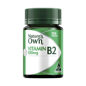 Vitamin B2 100mg Tablets by Natures Own