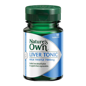 Liver Tonic (Milk Thistle 7000mg) Tablets by Natures Own