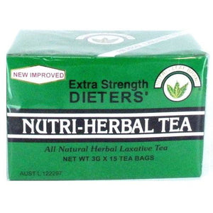 Nutri-Herbal Tea Dieters Extra Strength 15 Teabags by Nutri-Leaf Brand