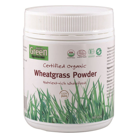 Certified Organic Wheat Grass Powder by Absolute Green