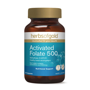 Herbs of Gold Activated Folate 500 60 Capsules
