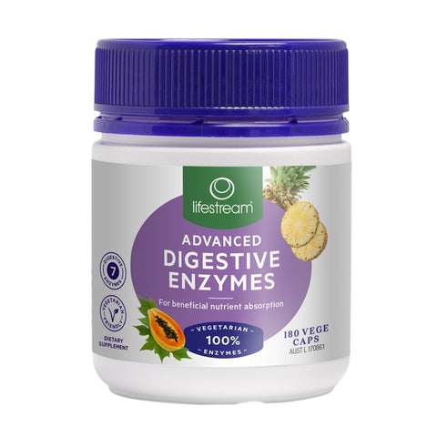 Image of Advanced Digestive Enzymes 180 Capsules by Lifestream