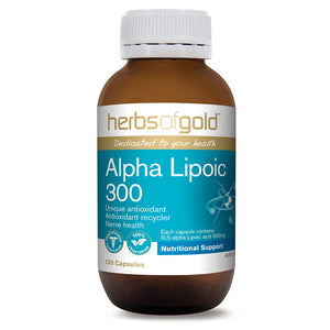 Alpha Lipoic 300mg 120 Vege Capsules - Herbs of Gold