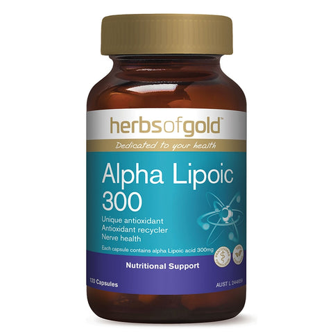 Image of  Alpha Lipoic Acid 300 120 Vege Capsules by Herbs of Gold