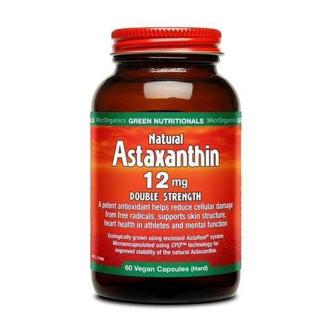 MicrOrganics Natural Astaxanthin Double Strength 12mg 60 Capsules