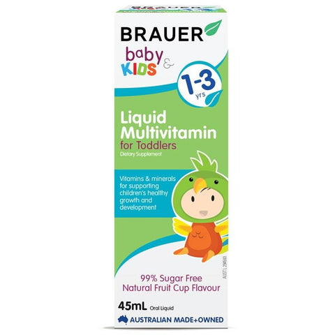 Brauer Baby & Kids Liquid Multivitamin for Toddlers 45ml