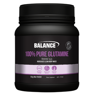 100% Pure Glutamine Powder 500g by Balance