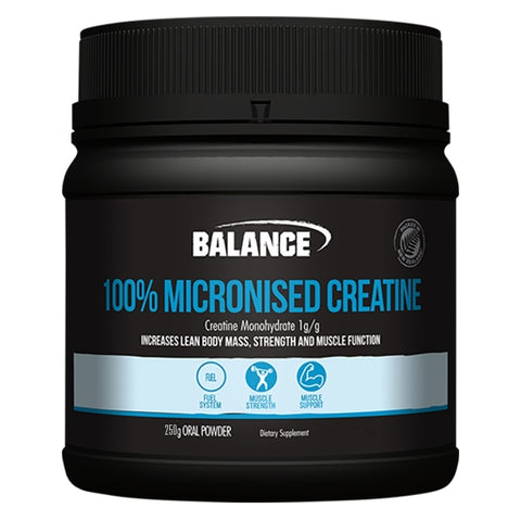 100% Pure Micronised Creatine 250g by Balance