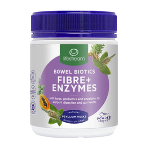 Bowel Biotics Fibre + Enzymes 200g by Lifestream