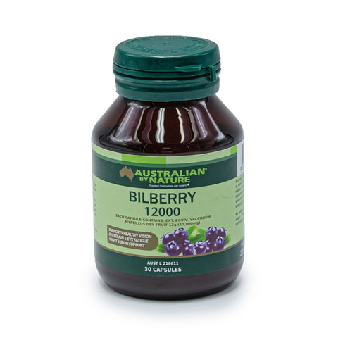 Australian By Nature Bilberry 12000mg 30 Capsules