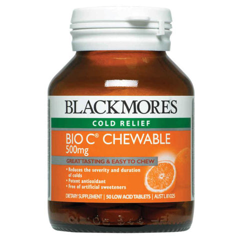 Bio C Chewable 500mg 50 Tablets by Blackmores
