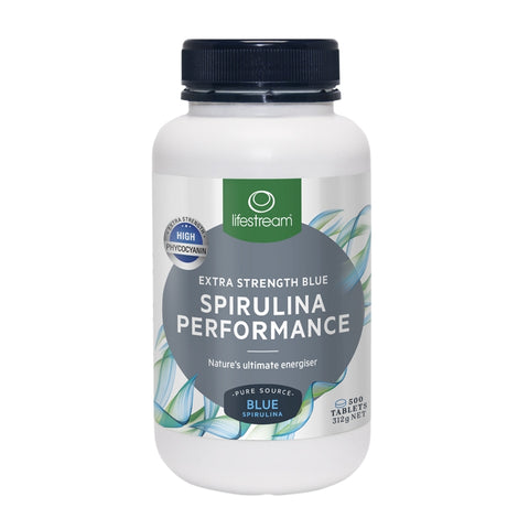 Lifestream Spirulina Performance Extra Strength 500 Tablets