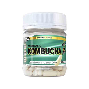 Probiotic Kombucha 60 Capsules by BSC - Boosted with Probiotics