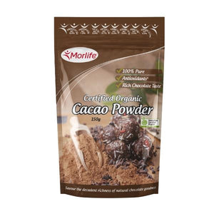 Cacao Powder (Certified Organic) 150gm by Morlife