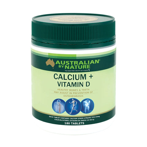 Australian By Nature Calcium 1500 + Vitamin D 500IU 180 Tablets