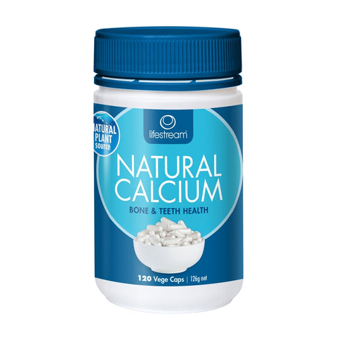 Natural Calcium 120 Capsules by Lifestream