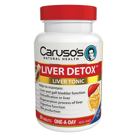 Liver Detox 30 Tablets by Carusos Natural Health