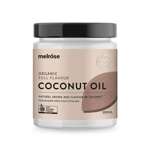 Melrose Organic Full Flavour Coconut Oil 380ml