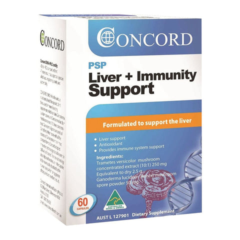 PSP Liver Immunity Support 60 Capsules by Concord Health