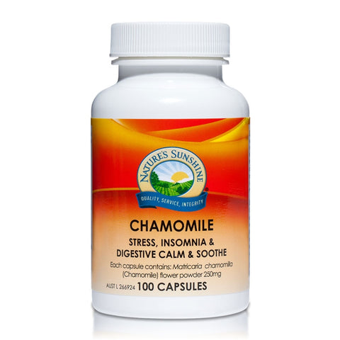 Natures Sunshine Chamomile 250mg 100 Capsules