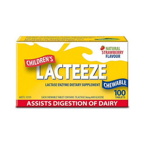 Lacteeze Childrens Strength Chewable 100 Tablets
