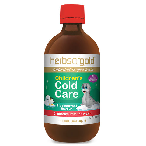Childrens Cold Care 100ml by Herbs of Gold
