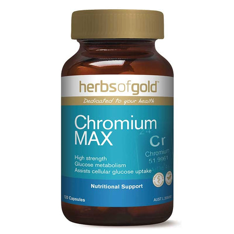 Image of Chromium Max 120 Vege Caps by Herbs of Gold