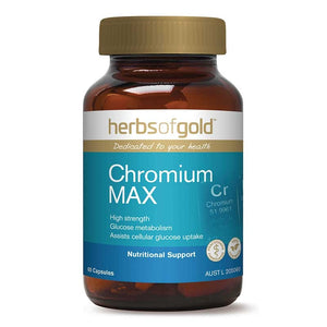 Chromium Max 60 Vege Caps by Herbs of Gold