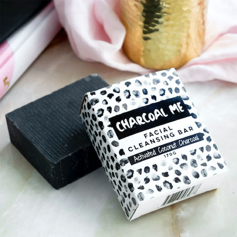 Image of Charcoal Me Activated Coconut Charcoal Facial Cleansing Bar