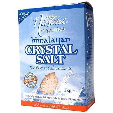Himalayan Crystal Salt Coarse Granules 1kg - Nirvana Health Products