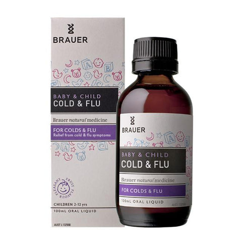 Baby & Child Cold & Flu Oral Liquid by Brauer Natural Medicines