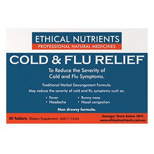 Cold & Flu Relief Tablets by Ethical Nutrients