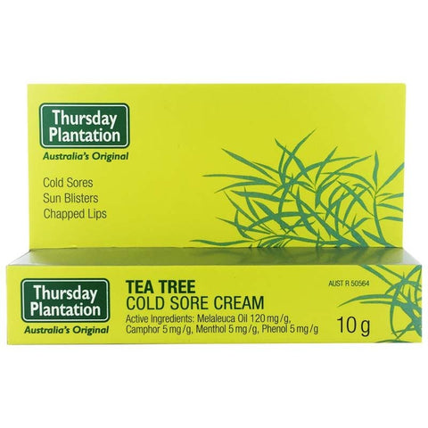 Tea Tree Cold Sore Cream 10g by Thursday Plantation