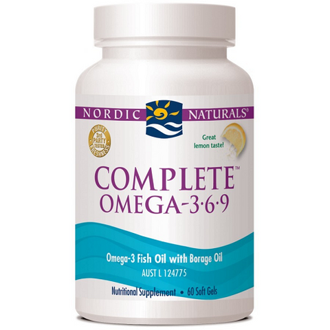 Complete Omega (3-6-9) Lemon 60 Capsules by Nordic Naturals