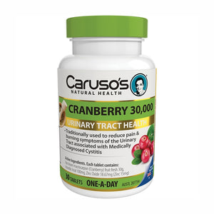 Cranberry 30000 30 Tablets by Carusos Natural Health