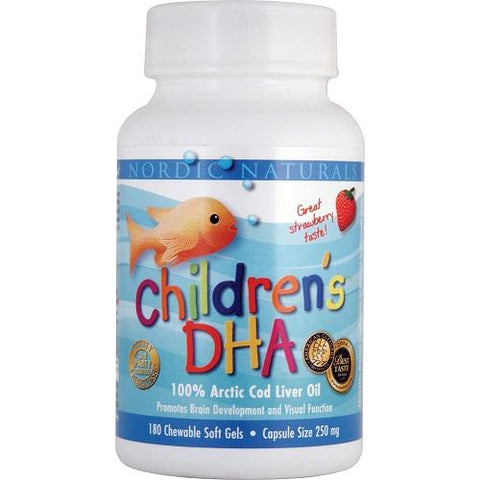Childrens DHA 180 Capsules Strawberry by Nordic Naturals