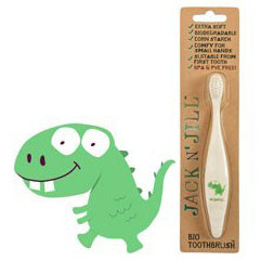 Bio Toothbrush Compostable & Biodegradable Handle DINOSAUR by Jack N Jill