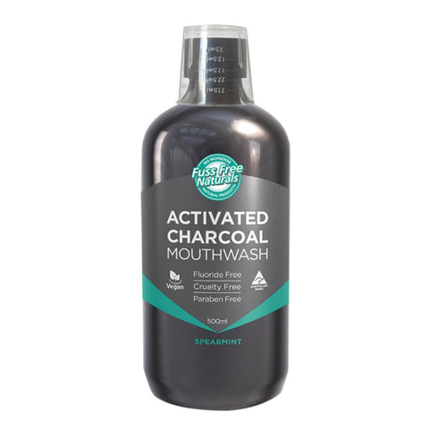Essenzza Activated Charcoal Mouthwash 500ml