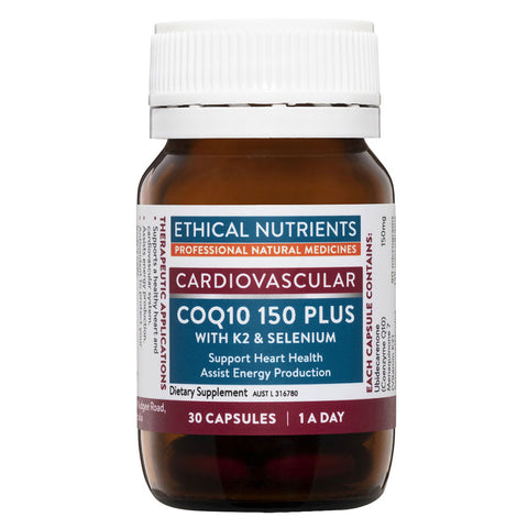 COQ10 150 Plus (Cardiovascular) by Ethical Nutrients