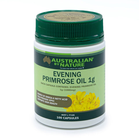 Image of Evening Primrose Oil 1000mg 100 Capsules by Australian By Nature
